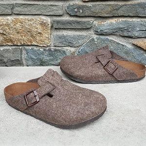 Birkenstock Boston wool felt clogs